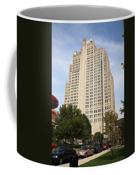 America Coffee Mug featuring the photograph St. Louis Skyscraper by Frank Romeo
