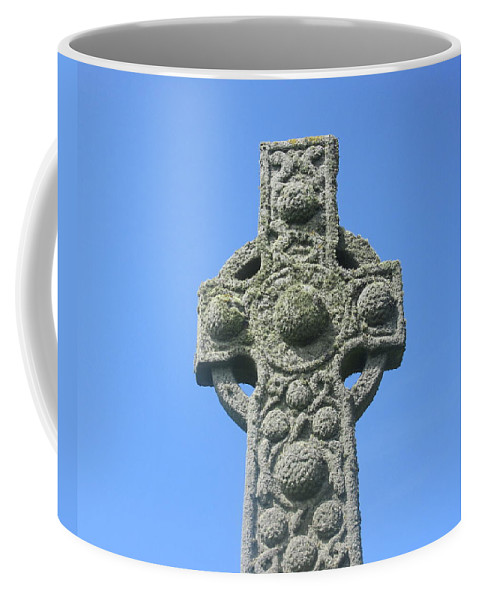 Cross Coffee Mug featuring the photograph St. Martin's Cross Close Up by Denise Mazzocco