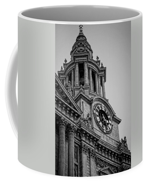 Clock Coffee Mug featuring the photograph St Pauls Clock Tower by Heather Applegate