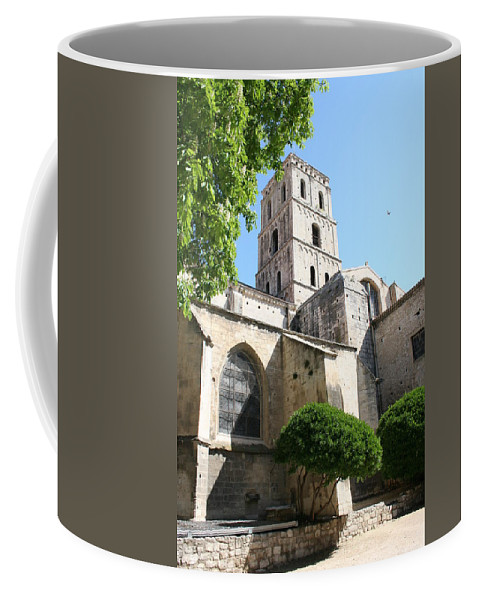 House Of God Coffee Mug featuring the photograph St Trophimus Courtyard by Christiane Schulze Art And Photography