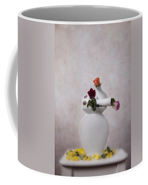Flower Coffee Mug featuring the photograph Stacked Vases by Joana Kruse