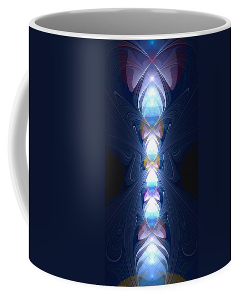 Enchanter Coffee Mug featuring the digital art Staff Of Light by Anastasiya Malakhova