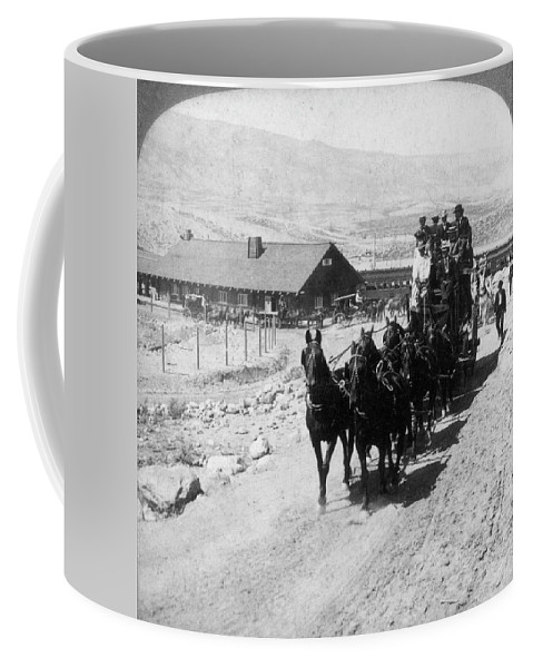 1875 Coffee Mug featuring the photograph Stagecoach, C by Granger