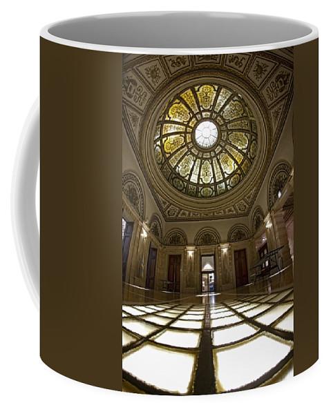 Chicago Coffee Mug featuring the photograph Stain Glass Rotunda by Sven Brogren