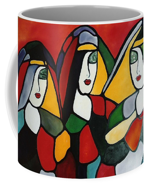 Nun Coffee Mug featuring the painting Stained Glass I by Lord Frederick Lyle Morris
