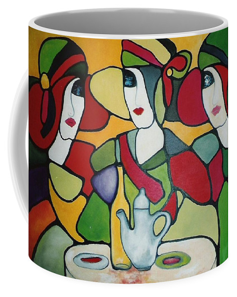 Women Coffee Mug featuring the painting Stained Glass II by Lord Frederick Lyle Morris