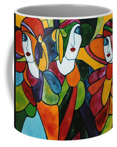 Stained Glass Coffee Mug featuring the painting Stained Glass Iv by Lord Frederick Lyle Morris