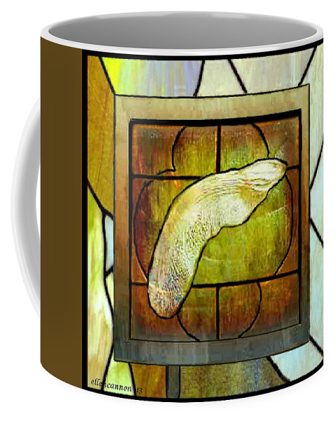 Stained Glass Template Coffee Mug featuring the photograph Stained Glass Template Maple Seedling by Ellen Cannon