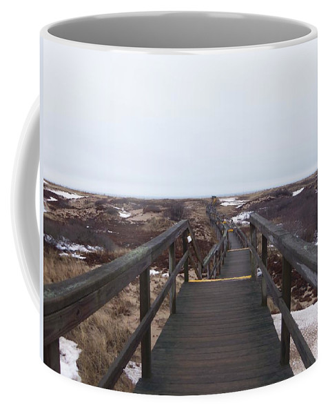 Sandy Point Coffee Mug featuring the photograph Stairway To The Atlantic by Two Bridges North