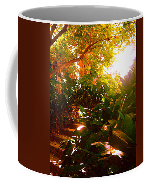 Landscapes Coffee Mug featuring the painting Stairway To The Top by Amy Vangsgard