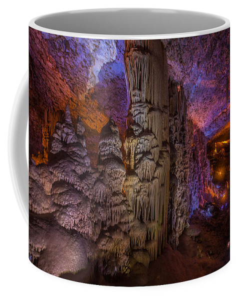 Stalactite Cave Coffee Mug featuring the photograph Stalactite Cave Wall by Mark Perelmuter