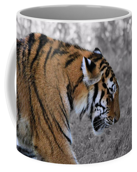 The Tiger Coffee Mug featuring the photograph Stalking Tiger by Dan Sproul