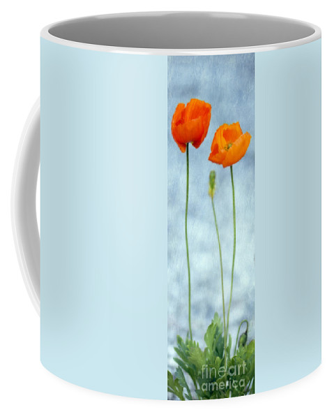 Poppy Coffee Mug featuring the photograph Stand By Me by Priska Wettstein