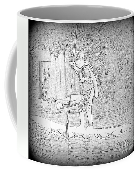 Sup Coffee Mug featuring the photograph Stand Up Paddle by Susan Garren
