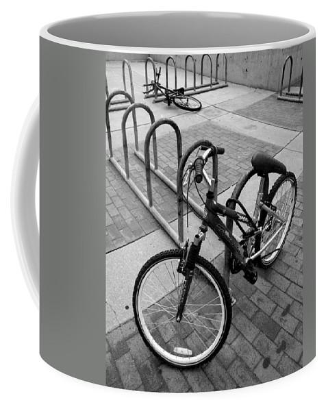 Bike Coffee Mug featuring the photograph Standing Lying Down by Joe Kozlowski