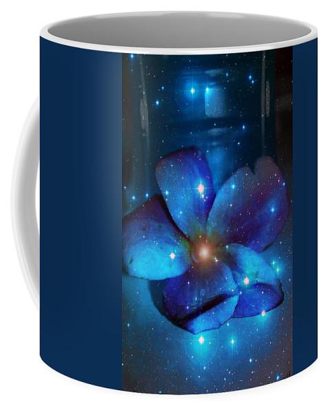 Plumeria Coffee Mug featuring the photograph Star Light Plumeria by Linda Sannuti