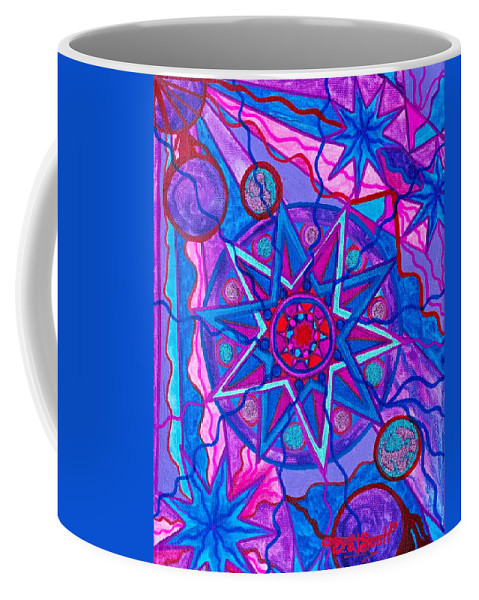 Vibration Coffee Mug featuring the painting Star Of Joy by Teal Eye Print Store