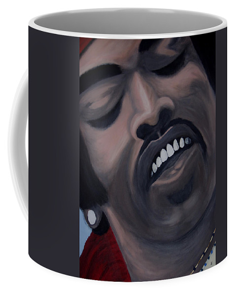 Guitar Legend Coffee Mug featuring the painting Star Spangled Jimi by Dean Stephens