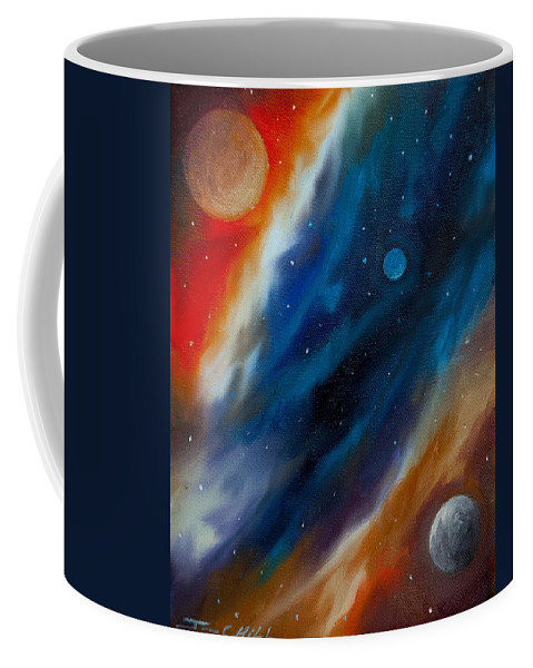 James Christopher Hill Coffee Mug featuring the painting Star System 2034 by James Christopher Hill