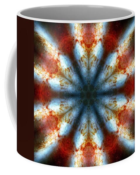 Starburst Galaxy M82 Iii Coffee Mug featuring the photograph Starburst Galaxy M82 IIi by Derek Gedney