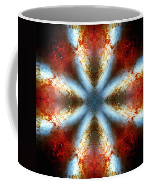 Starburst Galaxy M82 V Coffee Mug featuring the photograph Starburst Galaxy M82 V by Derek Gedney