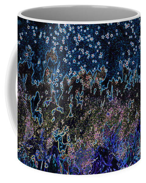 First Star Coffee Mug featuring the mixed media Stardust By Jrr by First Star Art