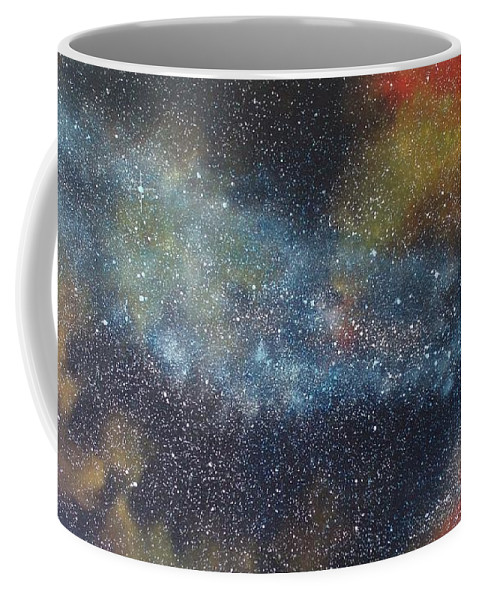 Oil Painting On Canvas Coffee Mug featuring the painting Stargasm by Sean Connolly