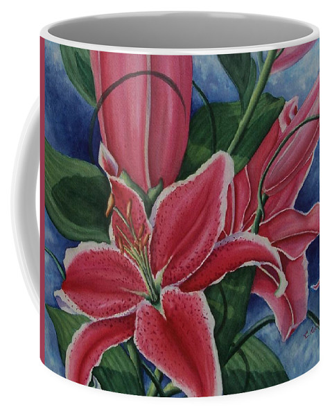 Stargazer Coffee Mug featuring the painting Stargazer by Conni Reinecke