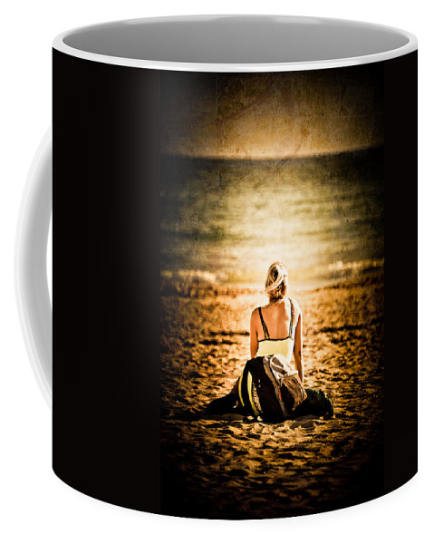 Loriental Coffee Mug featuring the photograph Staring At The Horizon by Loriental Photography