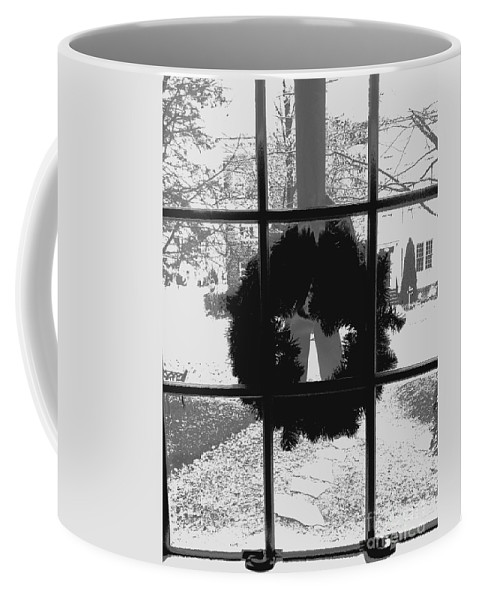 Christmas Coffee Mug featuring the photograph Christmas Wreath by Thomas Marchessault
