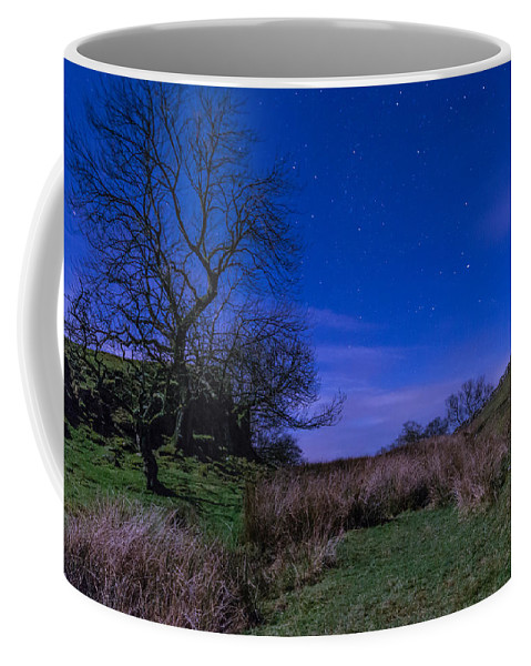 Northumberland Coffee Mug featuring the photograph Starry Night Above Hadrians Wall by David Head