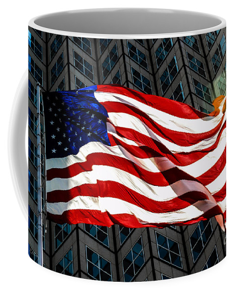 American Flag Coffee Mug featuring the photograph Stars And Stripes by Rene Triay Photography