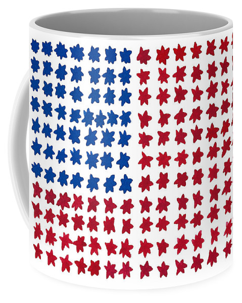 Contemporary Coffee Mug featuring the painting Stars No Stripes by Bjorn Sjogren