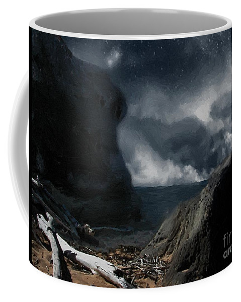 Ocean Coffee Mug featuring the painting Stars Over Salt Water by RC DeWinter
