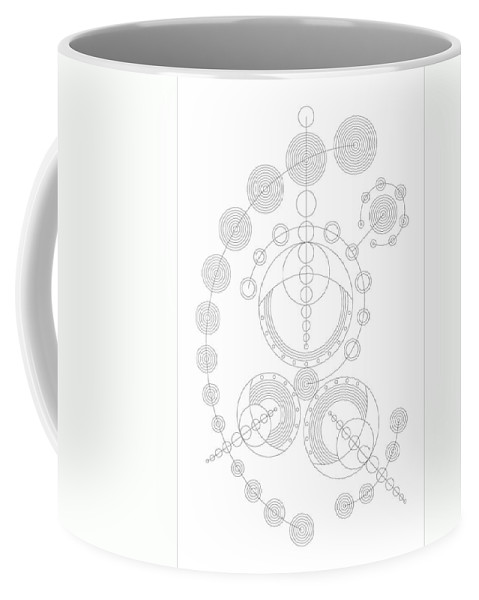 Relief Coffee Mug featuring the digital art Starship by DB Artist