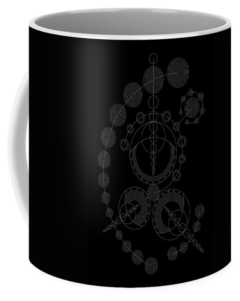 Relief Coffee Mug featuring the digital art Starship Inverse by DB Artist