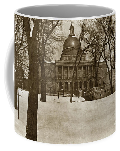 State Building Coffee Mug featuring the photograph State Building Boston Massachusetts Circa 1900 by California Views Archives Mr Pat Hathaway Archives