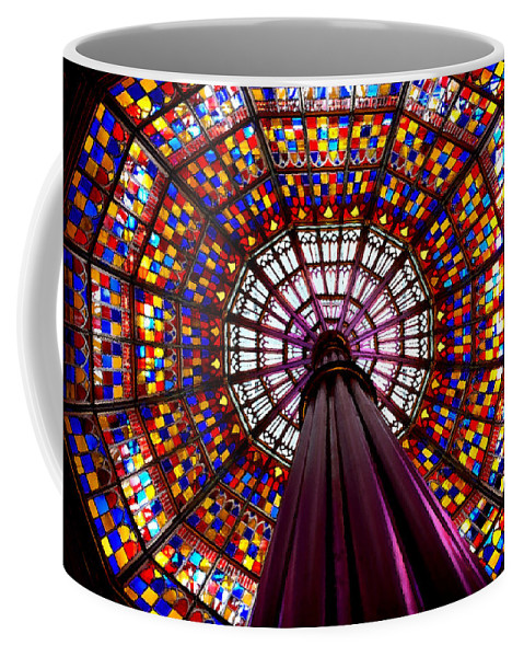 Stained Glass Coffee Mug featuring the photograph State House Dome by Charlie and Norma Brock