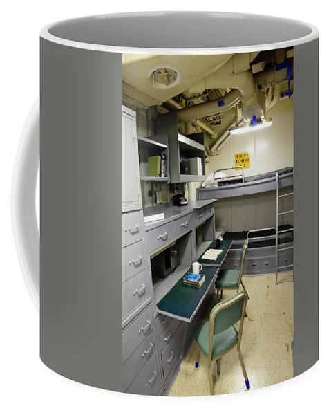 No People Coffee Mug featuring the photograph State Room Aboard Battleship Uss by Stocktrek Images