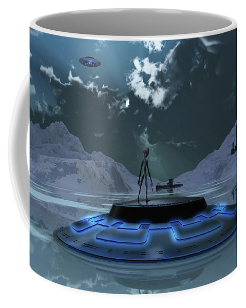 Horizontal Coffee Mug featuring the photograph Station 211 Alien Nazi Base Located by Mark Stevenson