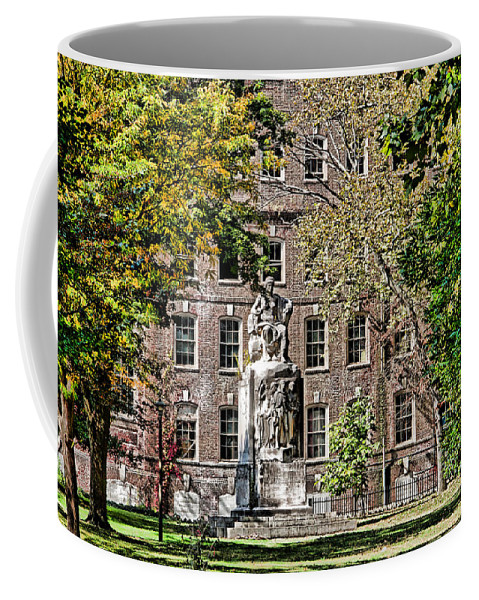 Germantown Coffee Mug featuring the photograph Statue In Germantown by Alice Gipson