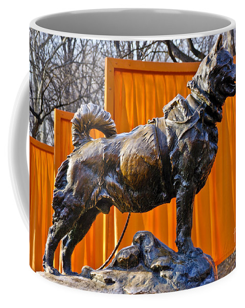 New York City Coffee Mug featuring the photograph Statue Of Balto In Nyc Central Park by Anthony Sacco