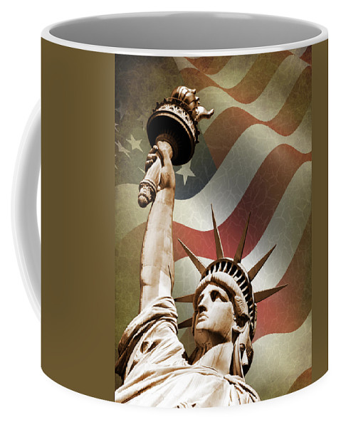 Statue Of Liberty Coffee Mug featuring the photograph Statue Of Liberty by Mark Rogan