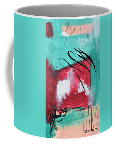 Miami Coffee Mug featuring the painting Staying In Miami by Donna Blackhall
