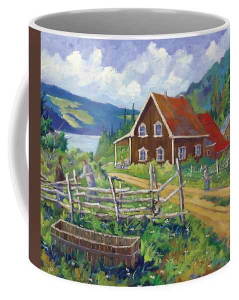 Art Coffee Mug featuring the painting Ste-rose Du Nord by Richard T Pranke