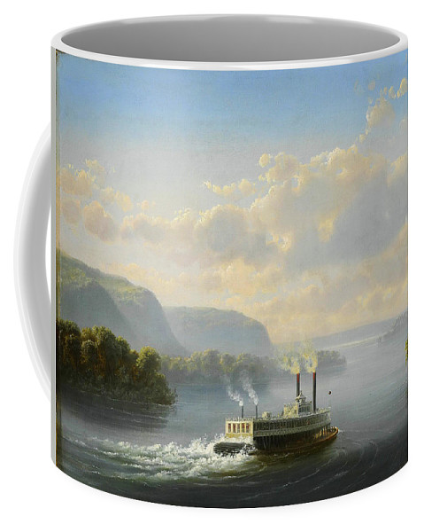 Steam Boat Coffee Mug featuring the painting Steam Boat by Celestial Images