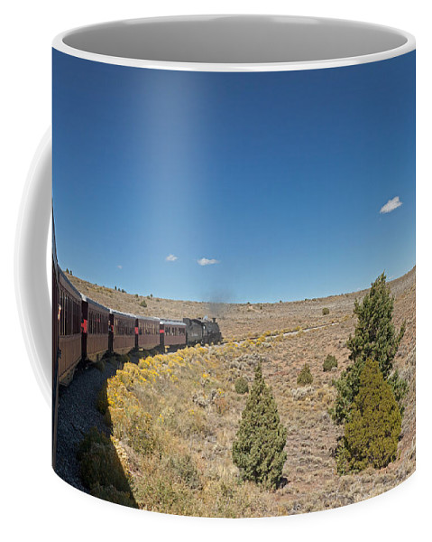 Antonito Coffee Mug featuring the photograph Steam Engine 489 At The Lava Tank On The Cumbres And Toltec Scenic Railroad by Fred Stearns