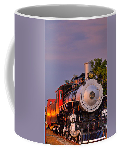 Steam Coffee Mug featuring the photograph Steam Engine Number 509 by Douglas Barnett