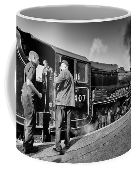 Train Coffee Mug featuring the photograph Steam Locomotive by Grant Glendinning