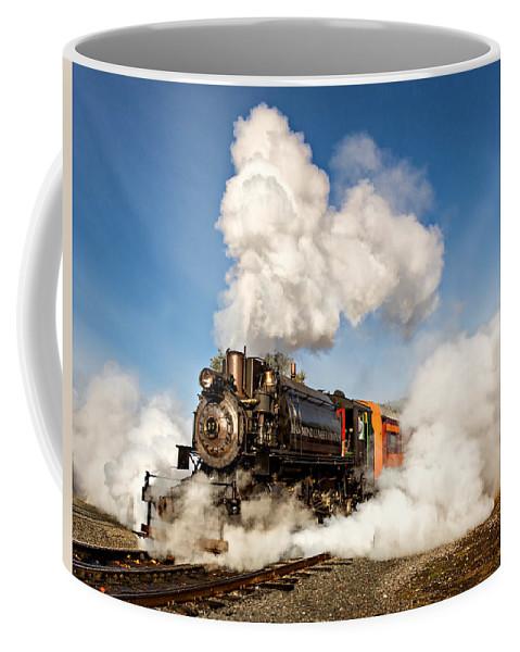 Mt Rainier Scenic Railroad Coffee Mug featuring the photograph Steam Power by Mary Jo Allen